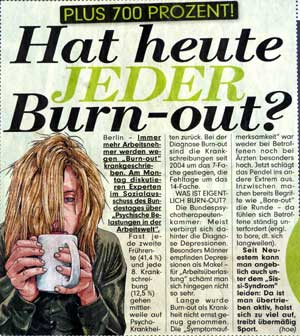 Hat heute jeder Burn-out